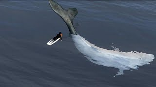 Huge-whale-knocks-surfer-unconscious-Dead-whale-surfer-avoids-becoming-shark-snack-Compilation